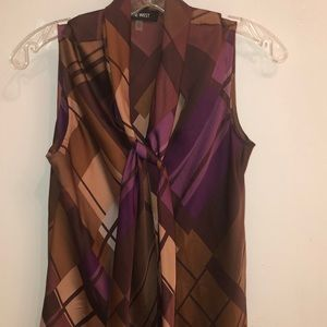 Nine West silky sleeveless blouse